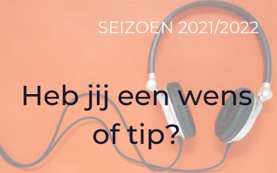 Naar wie wil jij luisteren in 2020/2021?